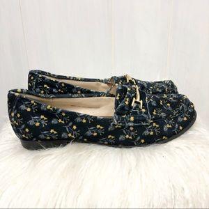 Cabi Floral Velvet Loafers Size 7
